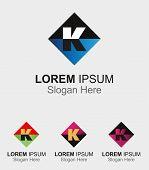 image of letter k  - Abstract logo icon for letter K design - JPG