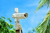 stock photo of cctv  - An Security cctv in public place city  - JPG