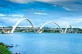 image of brasilia  - JK Bridge in Brasilia - JPG