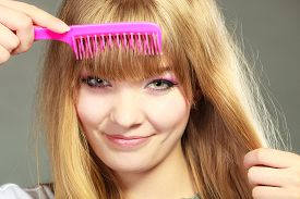 stock photo of hair comb  - Fashion beauty and haircare concept - JPG