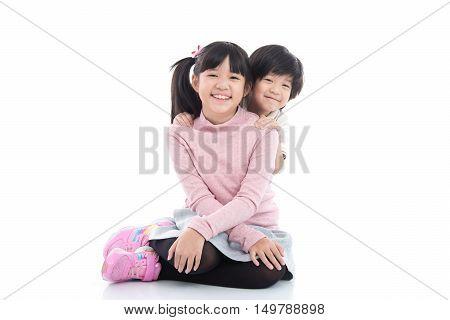 Cute asian children
