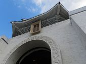 Chiang Kai-shek Memorial Hall front entrance with angled view