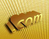 dotCom background, digital abstract internet information illustration