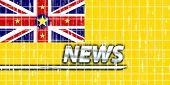 News information splash Flag of Niue, national country symbol illustration
