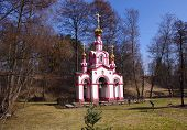 Belfry of Saint David church. Ascension monastery in Talezsh Russia