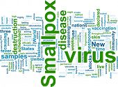 Word cloud concept illustration of  smallpox virus