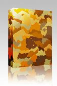 image of camoflage  - Software package box Camouflage pattern autumn desert colors design graphic wallpaper texture - JPG
