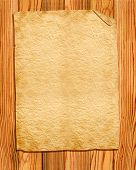 Old Paper On Wood Board For Design