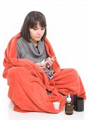 picture of barfi  - young adult sick woman - JPG