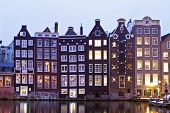 Medieval houses in Amsterdam the Netherlands