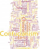 Word cloud concept illustration of  Confucian Confucianism