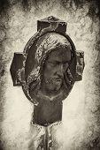 Bronze Jesus head
