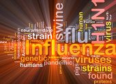 picture of avian flu  - Background concept illustration of H1N1 Influenza swine flu glowing light - JPG