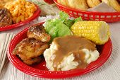Chicken With Mashed Potatos