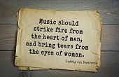 Постер, плакат: TOP 15 Aphorism by Ludwig van Beethoven German composer and pianist 