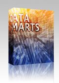 Software package box Data mart abstract, computer technology concept illustration