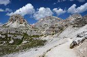 Drei-Zinnen-Hütte und Dolomiten Sexten Berge