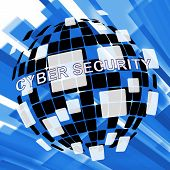 Cybersecurity Threats Cyber Crime Risk 3D Illustration poster