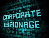 Corporate Espionage Covert Cyber Hacking 3D Illustration poster