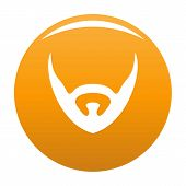 Short Beard Icon. Simple Illustration Of Short Beard Vector Icon For Any Design Orange poster