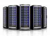 Network Workstation Servers 3d Illustration Isolated On White Background poster