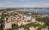 Aerial View Of Tampere, One Of The Biggest Cities In Finland poster
