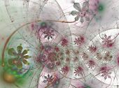 The Floral Universe. Flowers In The Bubbles poster