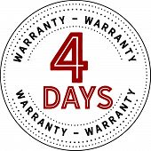 8 Years Black And Red Warranty Icon Stamp Guarantee poster