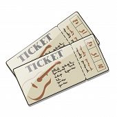 Two Tickets To A Concert Of Guitar Live Music, Chanson, Rock, Romantic Ballads. Set Of Event Invitat poster