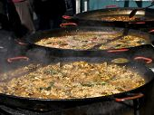 Paella In Big Pans
