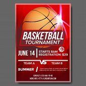Basketball Poster Vector. Basketball Ball. Sport Design For Sports Bar Event Promotion. Basketball G poster