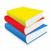 Os livros sobre uma mesa