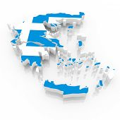 The Greece country  map on a white background. Clipping path included.