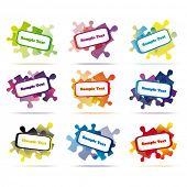 vector discurso bolhas puzzle formulário eps10