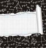 Algebra. Geometry. Abstract background.