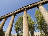Detail Of Roman Amphitheater In Amman, Jordan