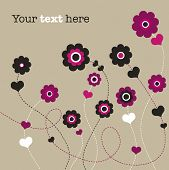 Flower wedding invitation card design in vector