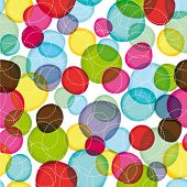 Seamless round bubbles kids pattern in vector