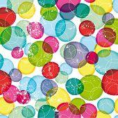 Inconsútil redonda burbujas niños patrón en vector