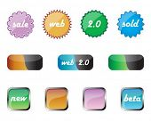 glossy web badges and web 2.0 elements