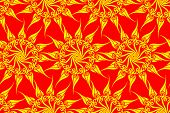 Seamless sun magic pattern