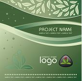 Corporate Vector Nature Template Background with Logo (others elements of this template are in my po