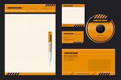 Template Vector (DANGER) - blank, card, pen, cd, note-paper, envelope