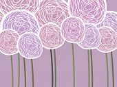abstract vintage pink background with roses