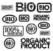 black bio stamps