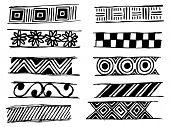 set of doodle vector patterns