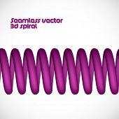 Vector seamless 3d spring / spiral