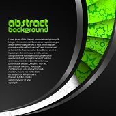 abstract green dark background