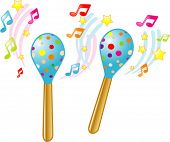 stock photo of idiophone  - Vector Magic Maracas - JPG