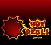 Hot deals promotional vector banner. You can use the banner for a single deal also, the letter S is